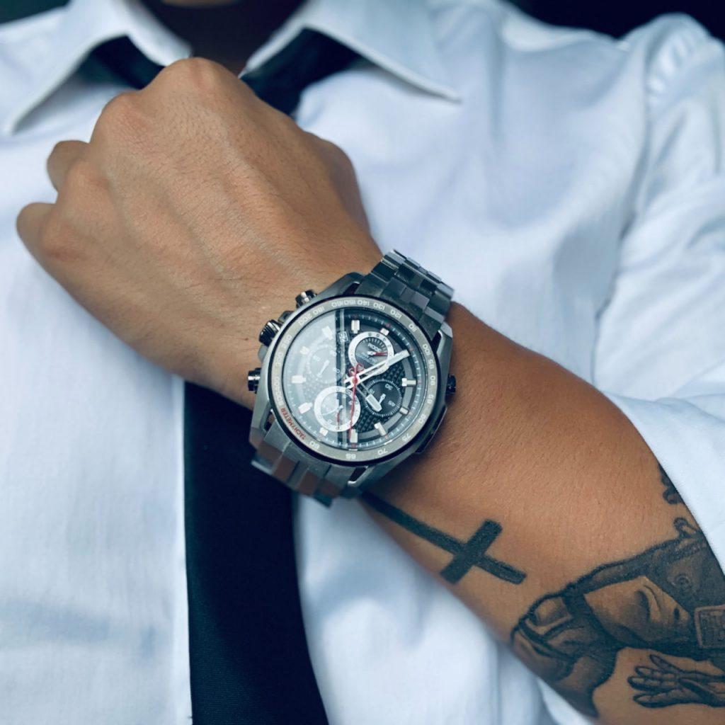 Reloj Caballero tatuaje